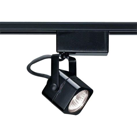 glomar 1 light mr16 12 volt black square track lighting