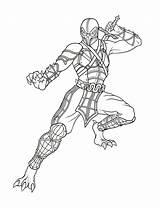 Mortal Kombat Coloring Printable sketch template