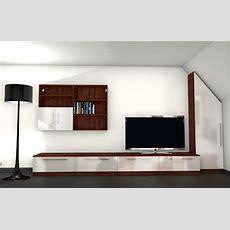 Moderne Wohnwand Mit Materialmix  Meine Möbelmanufaktur