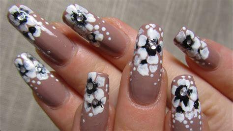 elegant beige  stroke flower design  black  white