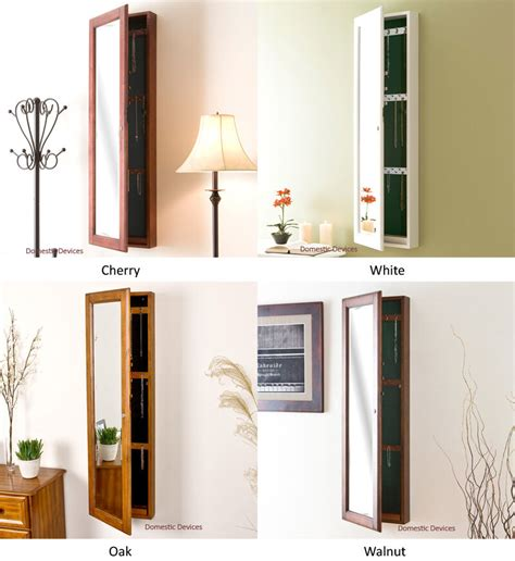 Jewelry Armoire Wall Mount Mirror by Solid Wood Jewelry Armoire Mirror Wall Mount Locking