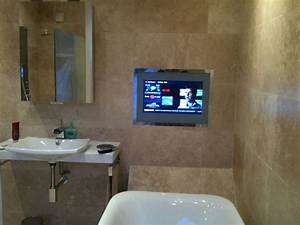 Top 28 bathroom tv ideas stanford lighted mirror tv for Putting a tv in the bathroom