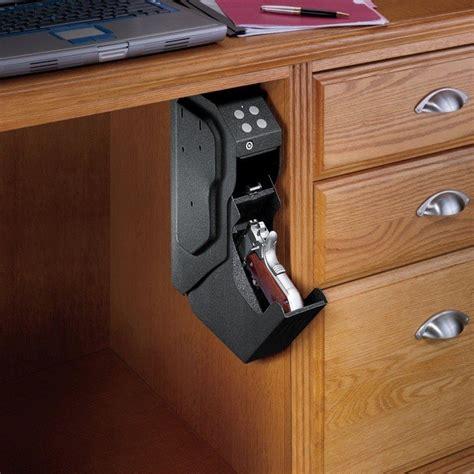 under desk lock box hidden gun storage solutions that are cool and practical