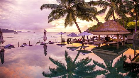 wallpaper infinity pool   wallpaper la digue