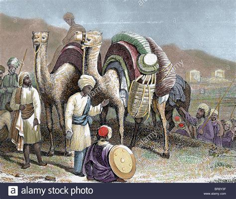 silk road caravan  camels resting antioch nineteenth