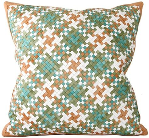 normandy pillow  emerald  images leather throw