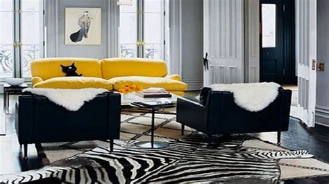 deco salon avec canape gris deco salon gris canape cuir jaune