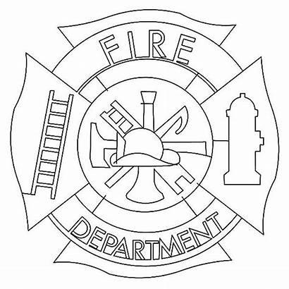 Cross Maltese Coloring Fire Department Clip Clipart