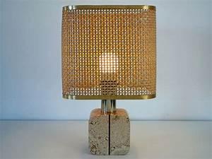 Abat Jour Paille : designer inconnu lampe de table base en pierre ~ Teatrodelosmanantiales.com Idées de Décoration