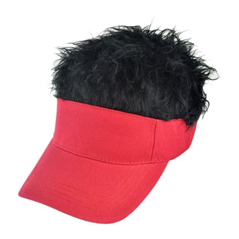 flair hair red visor novelty hats view all