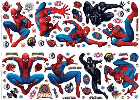 marvel spiderman multicolour  adhesive wall sticker