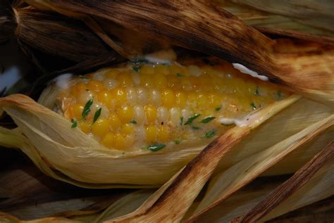 corn on the grill tomatoes on the vine grilled corn with toasted garlic thyme butter