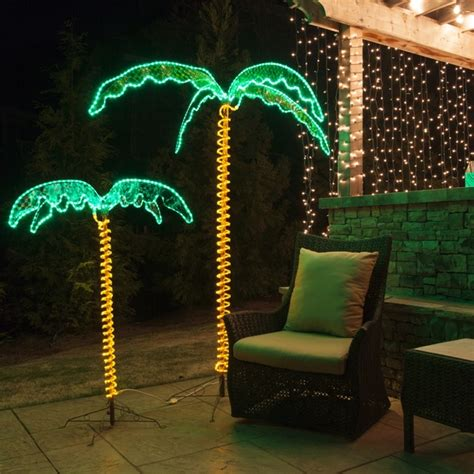 lighted palm trees 7 deluxe led lighted palm tree