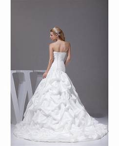 taffeta white train length pickups wedding dress oph1006 With wedding dress train lengths