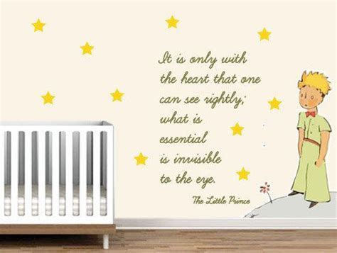 le petit prince the prince nursery wall sticker exupery what is essential is