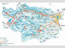 Maps of Pragelato ski resort in Italy SNO