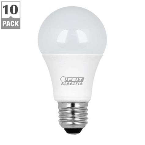 a19 led bulb 9 feit electric 60w equivalent warm white a19 led light bulb