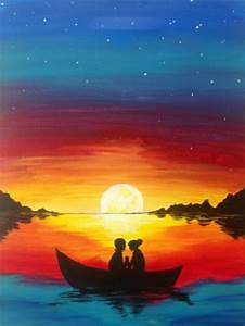 Easy Beach Sunset Paintings www imgkid com - The Image