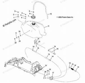 Polaris Atv 2006 Oem Parts Diagram For Fuel Tank   Ab  Ac