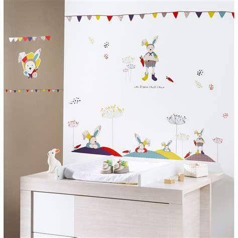 stickers lapin chambre bébé tinoo stickers muraux de sauthon baby déco stickers et