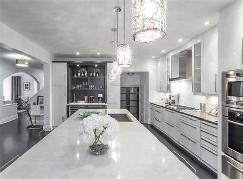 modern white grey kitchen design oakville modern