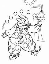 Clown Coloring Pages Printable Colouring Circus Juggling Clowns Clipart Cute Carnival Sheets Carousel Activity Library Animals Getcoloringpages Popular Kidspot sketch template