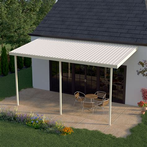 heritage patios 12 ft x 9 ft aluminum attached patio