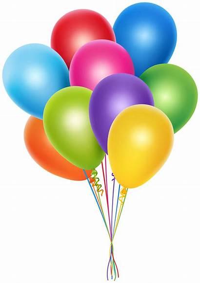 Balloons Bunch Clipart Birthday Clip Transparent Balloon