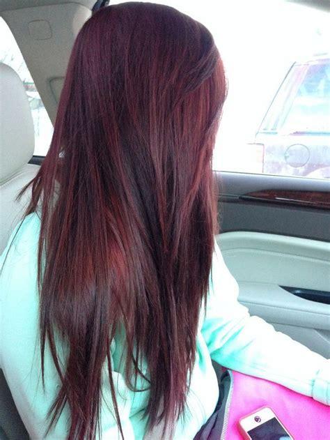 straight burgundy plum brown hair color white nice