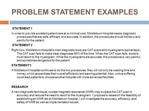 Problem Statement Template Writing Problem Statement For Research In Science