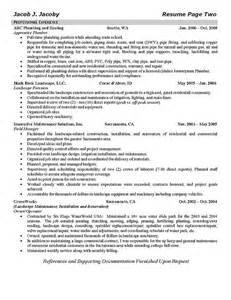 plumbing foreman resume templates plumber resume exle