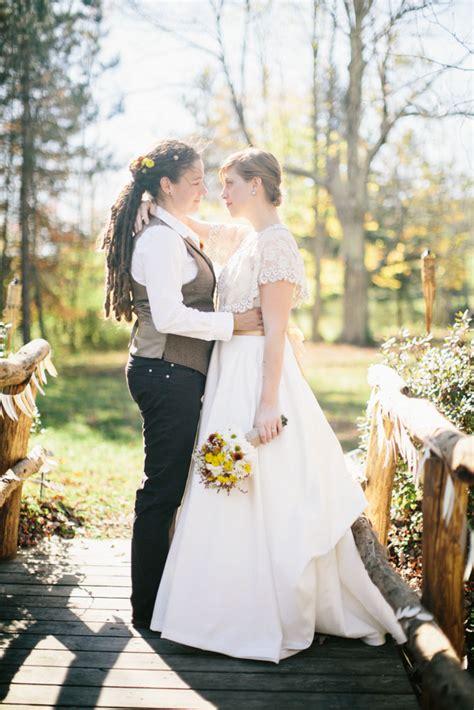rustic and autumnal farm wedding christina tamsen