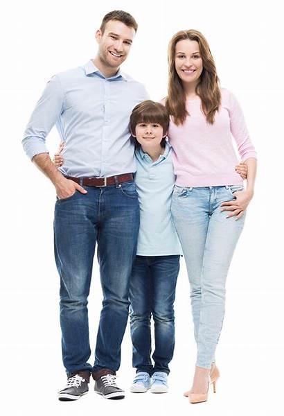 Standing Genitori Figlio Familia Creces Proyecto Sunday