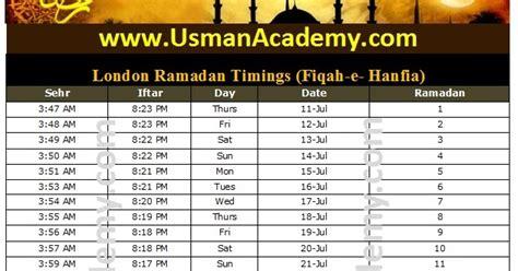 uk ramadan timings calendar uk ramazan sehar iftar timetable