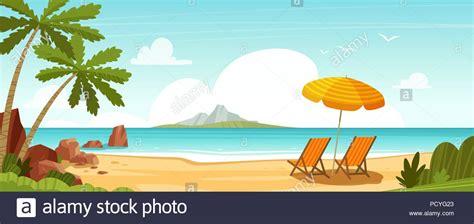 Mar playa y hamacas Seascape vacaciones banner