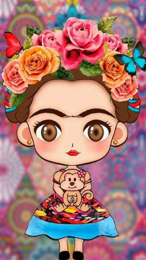 Frida💕🍀 Frida kahlo caricatura Frida kahlo dibujo