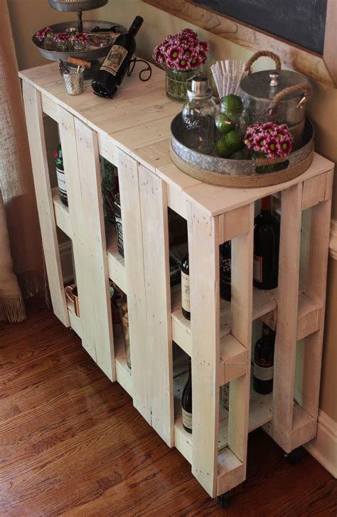 diy pallet bar cart  pinteresting life