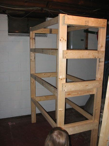 storage shelves plans  completed frame  sturdy