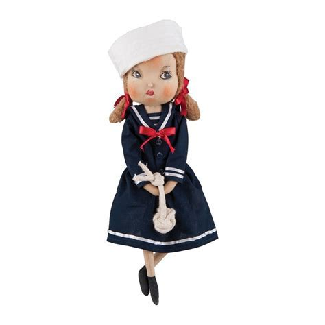 Joe Spencer Gathered Traditions Annie Sailor Girl Art Doll