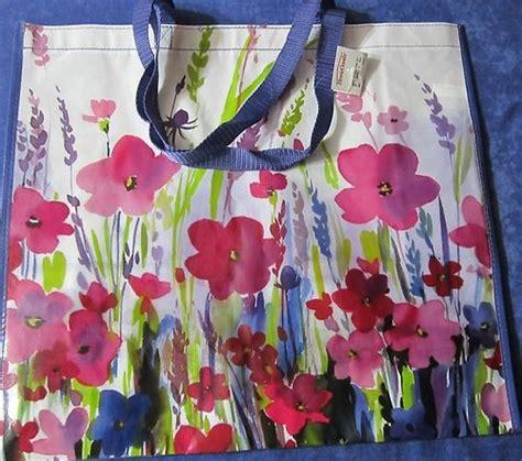 homegoods large reusable tote bag beatiful florals pinks
