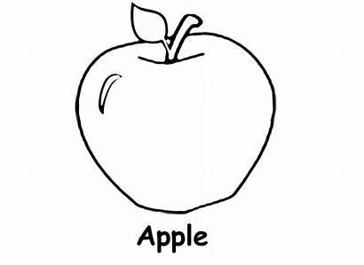 Apple Coloring Pages Printable Preschool