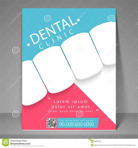 Free Dental Brochure Templates by Dental Clinic Flyer Template Or Brochure Stock Photo
