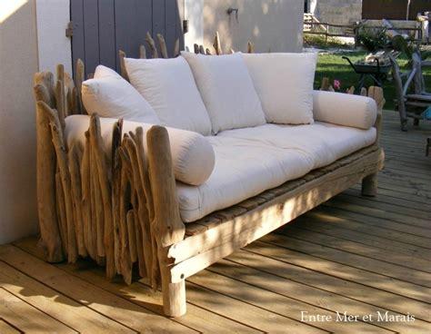 canape en bois canapés en bois flotté entre mer et marais créations