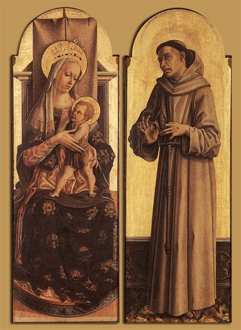 st francis of assisi birth date file carlo crivelli madonna and child st francis of assisi wga05787 jpg wikimedia commons