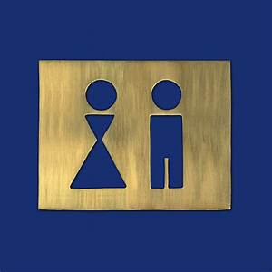 Gäste Wc Design : rechteckiges design wc schild g ste wc schild aluminium ~ Michelbontemps.com Haus und Dekorationen