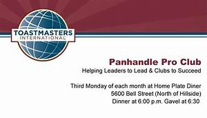 International business toastmasters international for Toastmasters business cards
