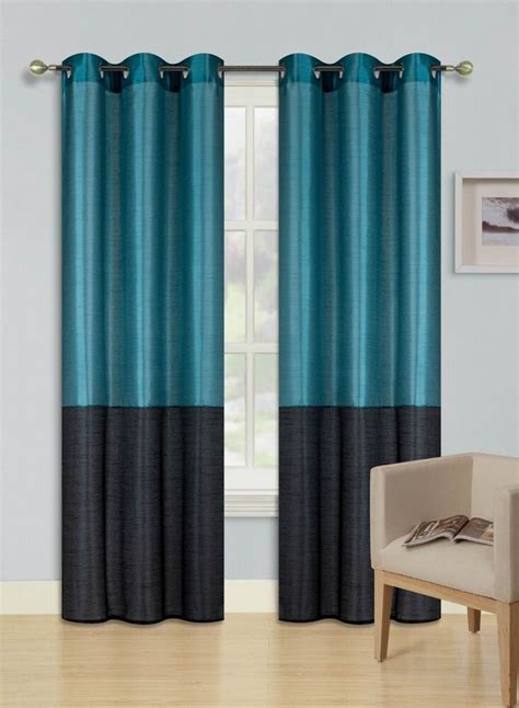 pc teal black eid  shades insulated blackout window