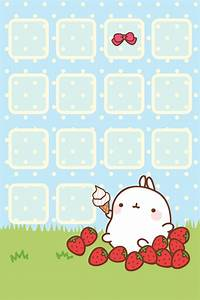Cute home screen Kawaii wallpaper