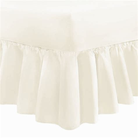 Valance Sheet by Small Fitted Valance Sheet Frilled 200 Tc