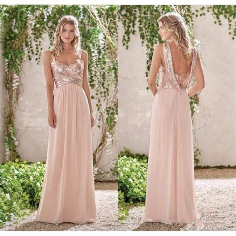 buy   rose gold bridesmaid dresses